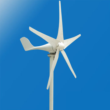 12V/24V 450W 5 Blade Wind Turbine Double-Bearing Wind Generator with Controller