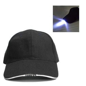 Adjustable Bicycle 5 LED Light Cap Battery Powered Hat Outdoor Baseball Cap bec70f11bf6