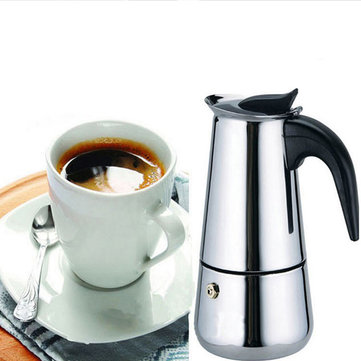 9 Cup 450ml Stainless Steel Moka Espresso Latte Percolator Stove Top Coffee Maker Pot