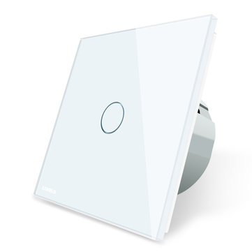 Livolo White Crystal Glass Touch Panel