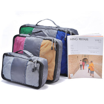 3pcs Travel Bag Waterproof Storage Bag Multifunctional PorTable Cloth Luggage Home Organizer