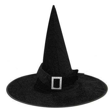 Halloween Heks Black Pointy Hat Volwassen Kids Cosplay Kostuum