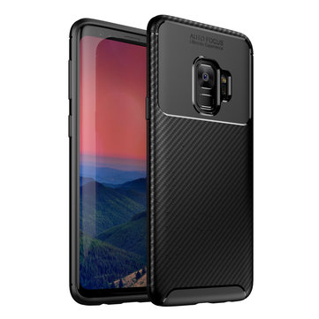Bakeey Protective Case For Samsung Galaxy S9 Slim Carbon Fiber Fingerprint Resistant Soft TPU Back Cover