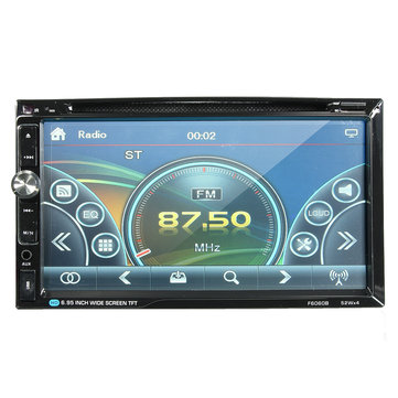 F6060B 7 inch Car Stereo DVD Player Bluetooth FM Radio MP4 Aux Touch Screen 2 Din HD 52W*4