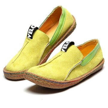Women Soft Sole Pure Color Flat Loafers