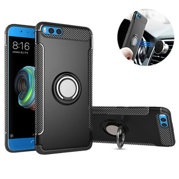 Bakeey Armor Shockproof Magnetic 360° Rotation Finger Ring Holder TPU+PC Case For Xiaomi Mi Note 3