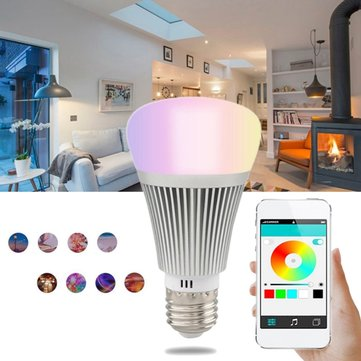 E27 7W RGBW Wifi Remote Control LED Smart Light Bulb for Amazone Alexa Google Home AC85-265V