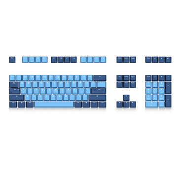 Akko X Ducky Ocean Star 108 Key OEM Profile PBT Keycap Keycaps Set for Mechanical Keyboard