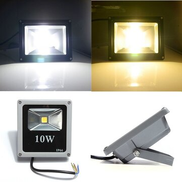 10W White/Warm White IP66 LED Flood Light Wash Outdoor AC85-265V