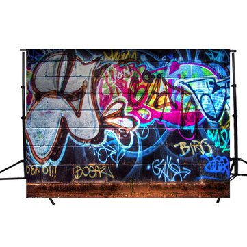 7x5ft Vinyl Graffiti Art Wall Photography Studio Prop Photo Background Backdrop