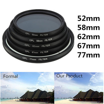 52mm-77mm Phot Digital Slim CPL Circular Polarizer Polarizing Lens Filter CPL Polarizer for Canon Nikon Sony