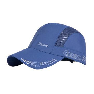Mesh Quick Drying Baseball Hat Summer Breathable Outdooors Climbing Fishing Visor Snapback Cap