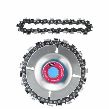 4 Inch Grinder Chain Disc with 2pcs Chain 5/8 Inch Arbor 22 Tooth Wood Carving Disc for 100/115 Angle Grinder
