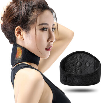 KALOAD Tourmaline Self-heating Neck Magnetic Therapy Belt Spontaneous Heating Neck Support Massager Fitness Protector