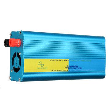 Intelligent 1200W 12V/24V to 220V Pure Sine Wave Power Inverter