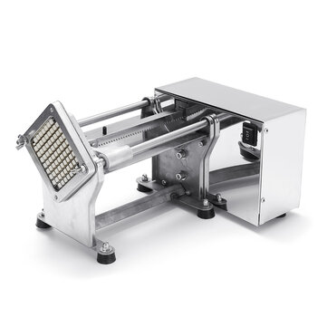 Electric Potato Chip Cutter French Fries Cutting Slicer Stainless Steel Machine
