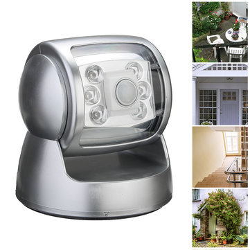 360° Rotatable Motion Activated Cordless LED Sensor Night Light Outdoor Garden Wall Lamp