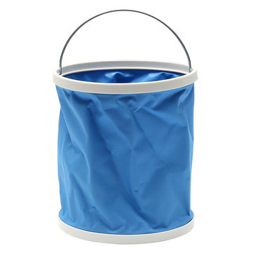 9L Blue Portable Folding Car Washing Fishing Storage Bucket
