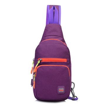 Women Man Nylon Waterproof Leisure Crossbody Bag Chest Bag