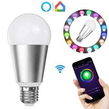 E27 7W RGBW WiFi APP Control Smart Light Bulb Work with Alexa Google Home AC110-240V