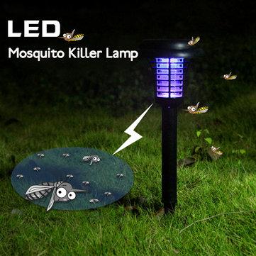 Giardino energia solare LED lampada zanzara cantiere plastica luce prato impermeabile