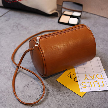 Women Faux Leather Vintage Pillow Phone Bag Crossbody Bag