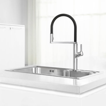 Xiaomi Kitchen Sink Sensor Faucet w/ Pre Riser Sprayer Rotatable Touchless One Handle Hot Cold Mixer