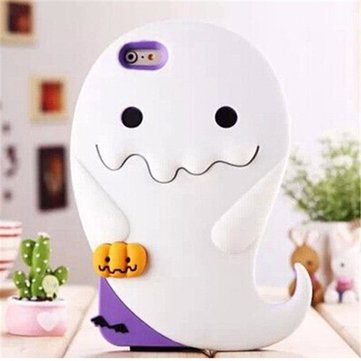 Cute 3D Cartoon Luminous Apparition Ghost Pumpkins Case Soft Silicone Cover For iPhone 6 6S