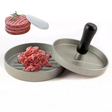 Honana KC-618 Round Shape Hamburger Press Aluminum Alloy Hamburger Meat Beef Non-Stick Coating Press Mold