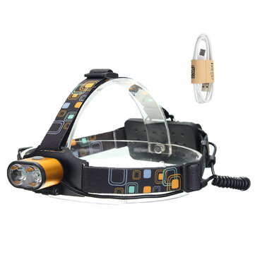 XANES 1500 Lumens XML-T6 Headlamp Waterproof Hiking Fish Bike Lamp