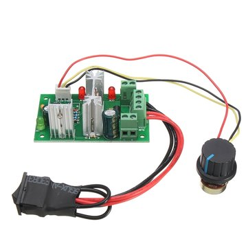 DC 6-30V 200W 16KHz PWM Motor Speed Controller Regulator Reversible Control Forward/Reverse Switch Reverse Polarity Protection High Current Protection High Efficiency High Torque Low Heat Generating