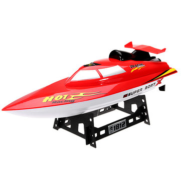 QiJun 1812-1 2.4G 30KM / H ความเร็วสูงแบบไร้สาย รีโมทคอนโทรล Rc เรือ มี แบตเตอรี่