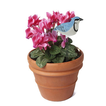 Plant Pal Soil Moisture Meter Alarm Cardinal Goldfinch Singing Voice Flower Bonsai Testing Tool