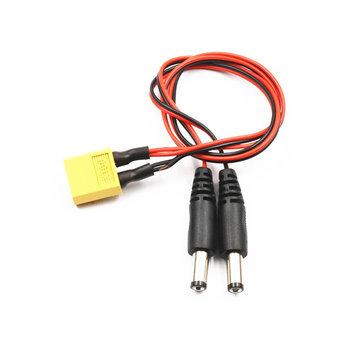 Lantian RC XT60 남성 DC 5.5 듀얼 플러그 전원 케이블에 FatShark HD2 / V3 FPV 고글 배터리