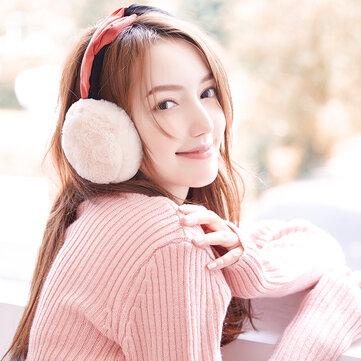 Women Warm Soft Folding Headband Earmuff Windproof Cute Ear Warmer
