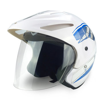 Motorcycle Half Face Helmet ABS Cycling Off-road Scooter Rainproof Breathable