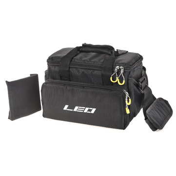 LEO Fishing Bag Waterproof Canvas Fishing Waist Pack Lure Bait Bag Fishing Tackle Bag Multifunctional Portable Shoulder Bag