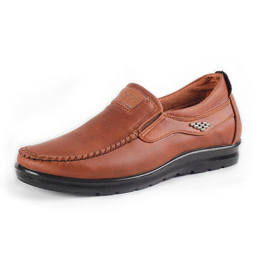 Men Casual Business Leather Slip On Oxfords Comfy Shoes