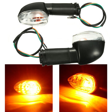2Pcs Rear Front Universal Abmer Turn Signals Lights For YAMAHA YZF R1 R6 FZ1 FZ6 XJ6