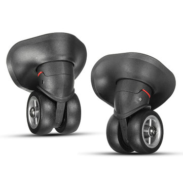 2Pcs Black Luggage Suitcase Universal Wheels Repair Replacement