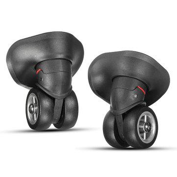 2Pcs Black Luggage Suitcase Universal Wheels Repair Replacement