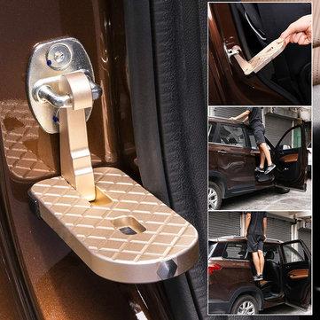 Multifunctional Gold Car Door Pedal Foldable Truck Doorstep Safety Hammer Roof Rack Assistance