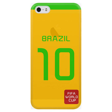 BASEUS Brzail World Cup Football Star Clothes Numbers PC Back Case For Apple iPhone 5 5S