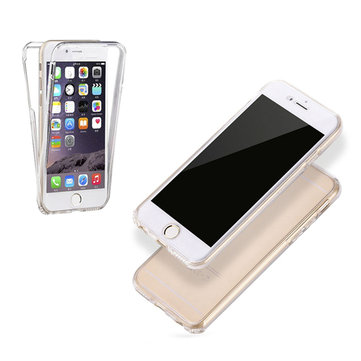 Full Body Touch Screen Soft TPU Case voor iPhone 6 Plus & 6s Plus