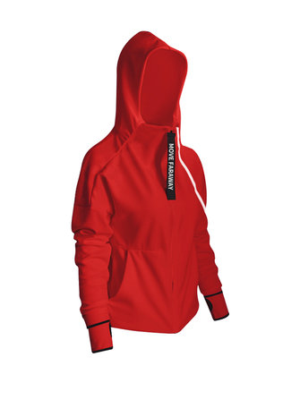Plus Size Sport Women Zipper Hooded Running Coats