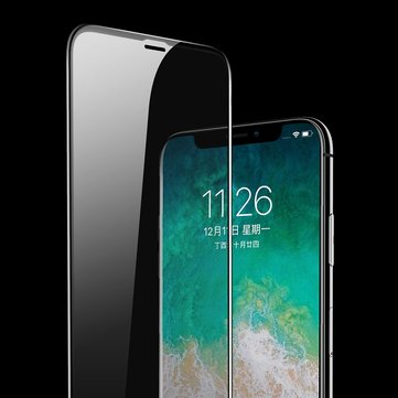Rock 0.26mm 4D Curved Edge Scratch Resistant Tempered Glass Screen Protector For iPhone X