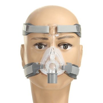 Silicone Gel Full-Face Mask Headgear Strap Sleep Apnea Nasal Snoring for CPAP