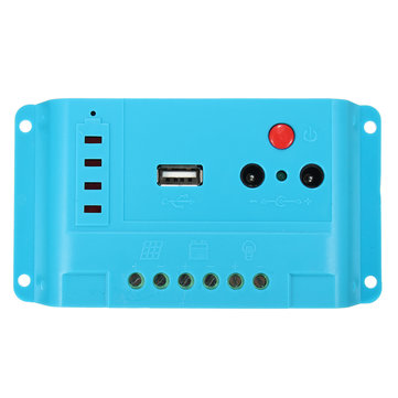 10A 12V/24V Auto PWM Solar Panel Charge Controller Battery Regulator USB Charging