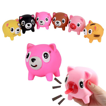 Screams Tongue Doll Toys Tricky Vent Pig Style Doll Toys Random Colors Birthday Gift Random Color