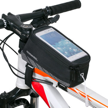 ROSWHEEL 5.2/5.7in Touchscreen Bicycle Phone Bag Waterproof MTB Road Bike Top Front Tube Frame Bag